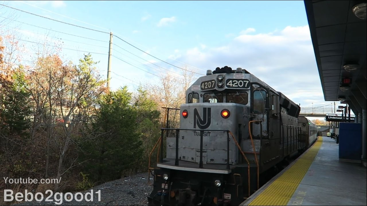 Nj Transit Atlantic City Line Train At Lindenwold Nj Rr Gp40ph 2b Youtube
