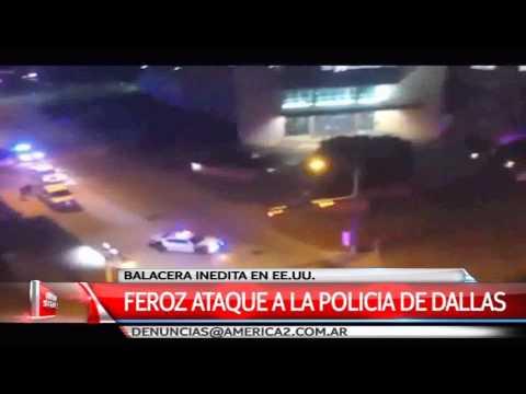 Graban el ataque al destacamento policial de Dallas