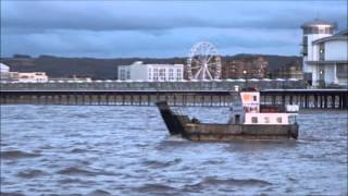 The 'Westward Ho' Returns Home to Weston Super Mare At Sunset, by Sheila, 9th April  2016