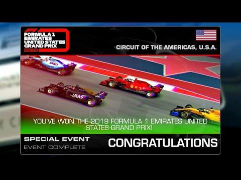 Real Racing 3 Formula 1 Emirates United States Grand Prix Final Goal