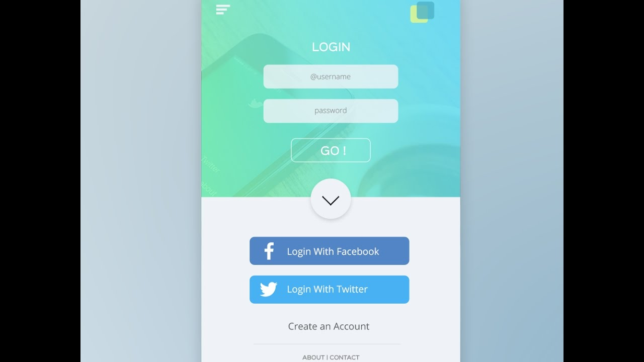 ui design tutorial in photoshop mobile app login page step by step