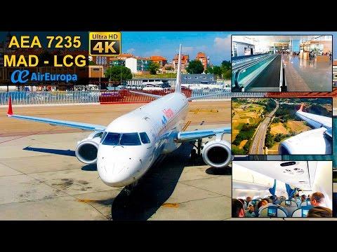 FLIGHT EXPERIENCE | Madrid - Coruña | AIR EUROPA E195