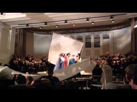 "Noah, Family, Animals inside the ark--""Noye's Fludde"" by Wheaton College Opera Theater"