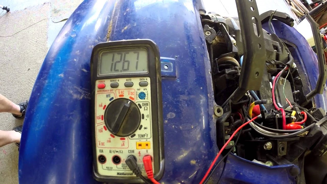2006 Yamaha Raptor Wiring Diagram 2008 Yamaha Grizzly 700 Not Charging Youtube
