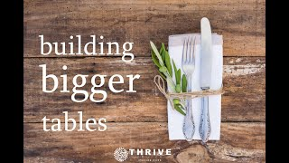 Thrive Church, Bulding Bigger Tables, Part 6, 10-18-20