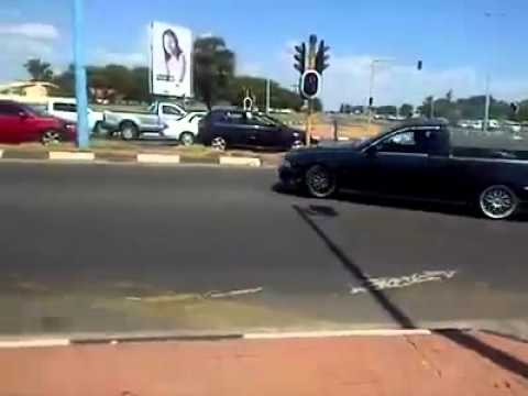 BMW spinning in the streets of Botswana Gaborone