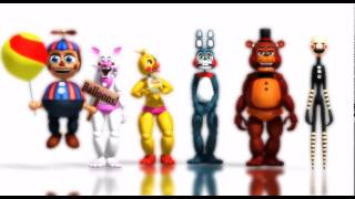 - MMD FNAF Five Nigths at Freddy s 2 Minions bananas song