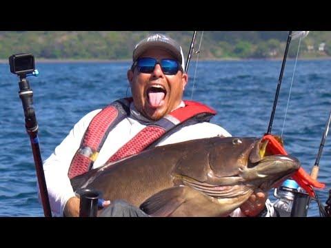MASSIVE Fish Breaks Rod in Half while Kayak Fishing | Field Trips Panama