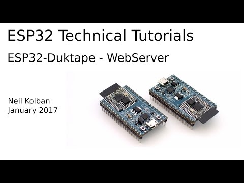 ESP32 Technical Tutorials: ESP32 Duktape WebServer - YouTube
