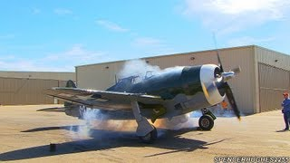 P-47 Thunderbolt Engine Start-Up & Engine Shut-Down