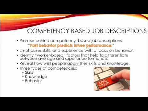 skills vs competency based job descriptions