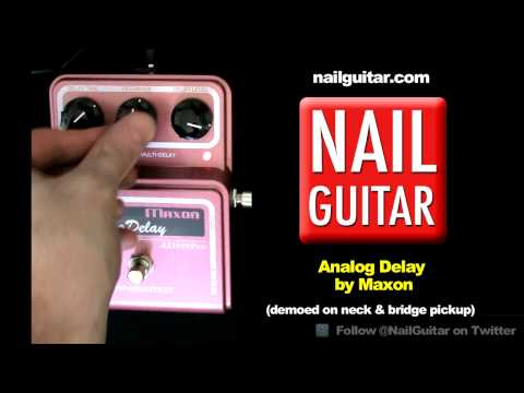 Pro Analog Delay Guitar Effects Pedal Demo / Test - Maxon