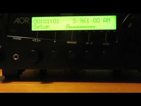 5960 kHz NHK World Radio Japan via France with sign on