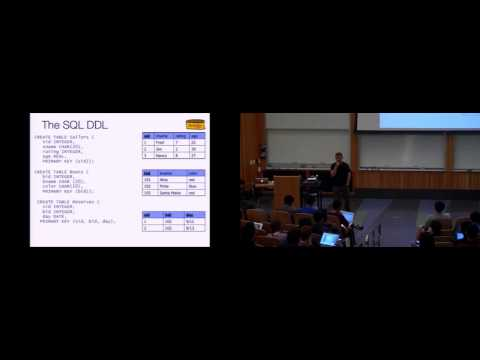 Lecture 09. SQL: The Query Language (CS 186, Spring 2015, UC Berkeley)