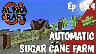 How to make a Sugar Cane farm & a Fish tank in Survival Minecraft | AlphaCraft SMP with Avomance Video