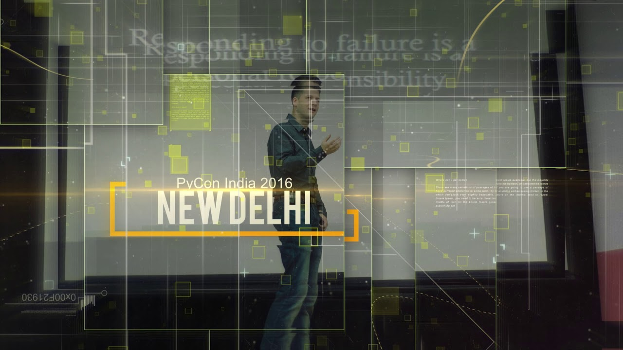 Image from PyCon India 2018 Opening Video by Ramesht Shukla