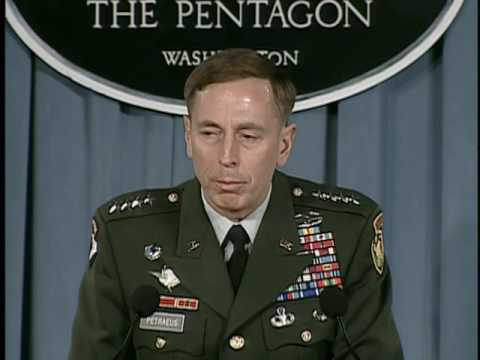 OASD: DOD NEWS BRIEFING WITH GEN. PETRAEUS FROM THE PENTAGON