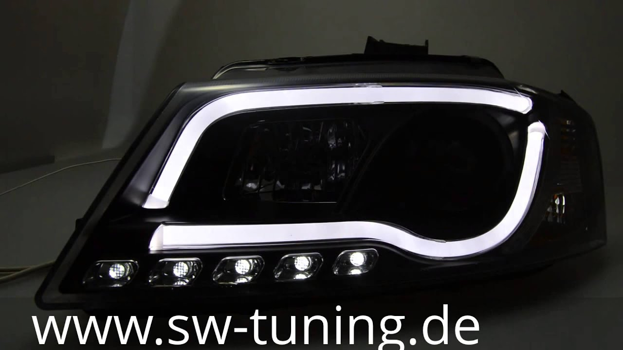 sw drltube scheinwerfer a3 8p facelift led tagfahrlicht. Black Bedroom Furniture Sets. Home Design Ideas