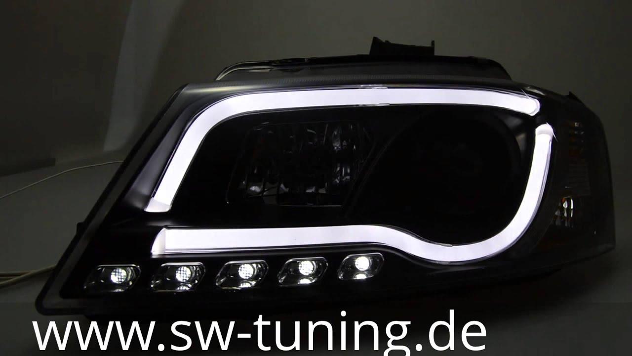 sw drltube scheinwerfer a3 8p facelift led tagfahrlicht. Black Bedroom Furniture Sets. Home Design Ideas