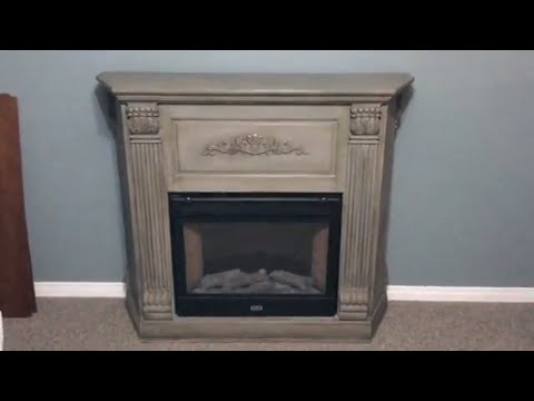Fireplace - Mantel update with Chalk Paint Tutorial