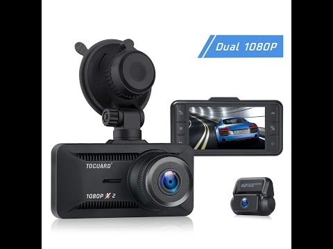 TOGUARD CE63 1080P Dual Dash Cam Front And Rear Car Camera UNBOXING, Installation & Testing