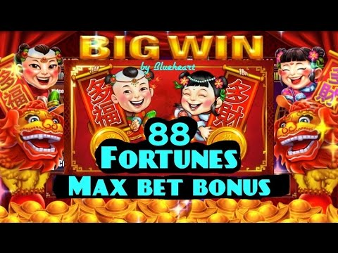 "88 FORTUNES slot machine MAX BET BONUS ""BIG WIN"" - 동영상"