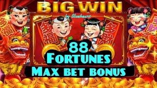 """88 FORTUNES slot machine MAX BET BONUS """"BIG WIN"""""""