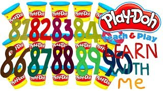 LEARN TO COUNT NUMBERS 81-90 WITH PLAY-DOH In ENGLISH l Squishy Fun