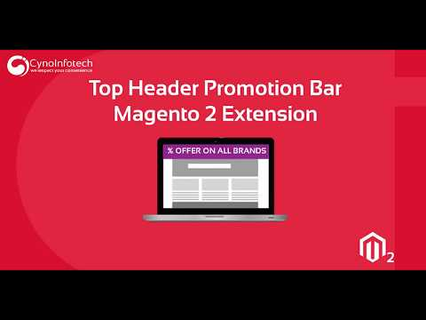 TOP HEADER PROMOTION BAR MAGENTO 2 EXTENSION   Cynoinfotech thumbnail