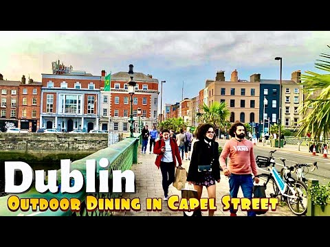 Dublin Ireland is coming back to life walking in Capel street and Parnell street Dublin City Centre