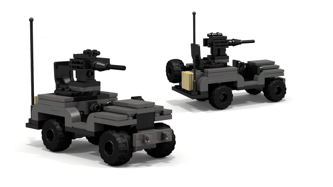 Lego Military Wwii Jeep With Gun Building Instructions Youtube