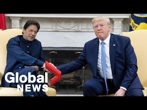 President Trump meets with Pakistani Prime Minister Imran Khan