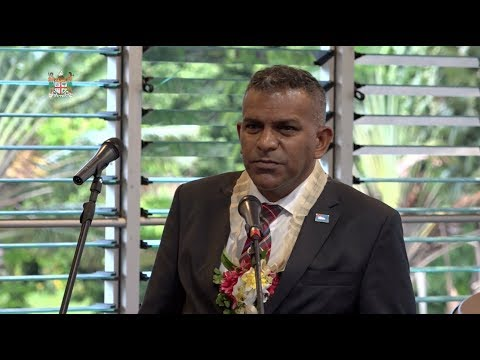 Fijian Minister for Tourism officiates at the welcome ceremony for 2017 Oceania Hockey Challenge Cup
