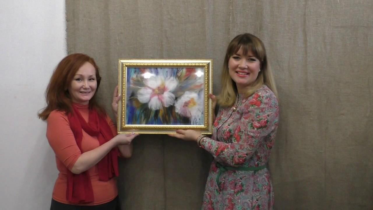 Картины из Шерсти с Еленой Сеченовой. Шерстяная живопись в студии Шкатулочка
