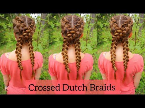 Crossed Dutch Braids | Easy Hairstyles for School | How to Braid Own Hair