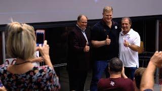 Texas A&M Football Players Receive Their Aggie Rings