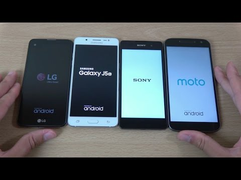 LG X Screen vs Galaxy J5 2016 vs Xperia E5 vs Moto G4 - Speed Comparison!