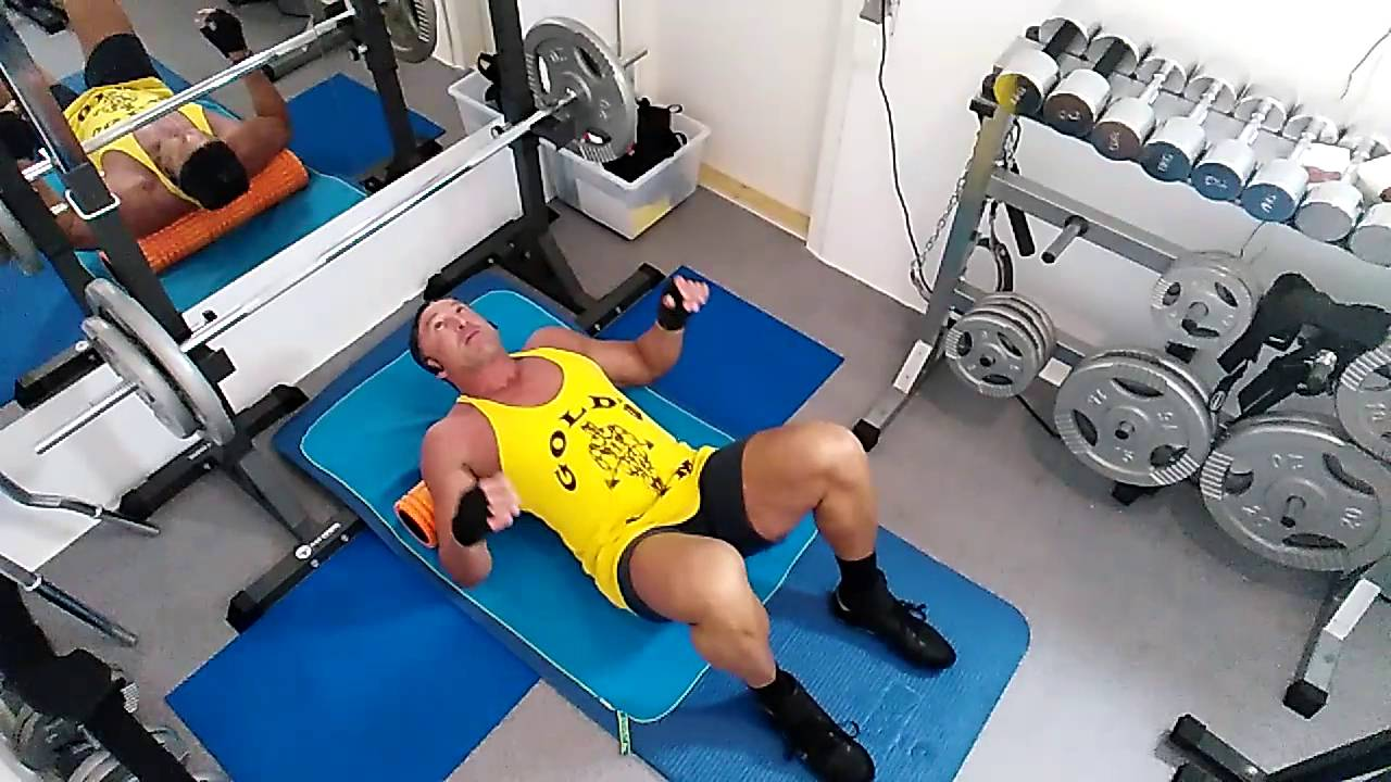 Incline Floor bench press - YouTube