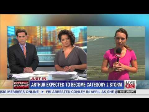 CNN Indra Petersons Hurricane Arthur -Ahead of the storm