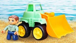 Песочница — Большие машинки для самых маленьких— Игры: счет для малышей, изучаем цвета иформы
