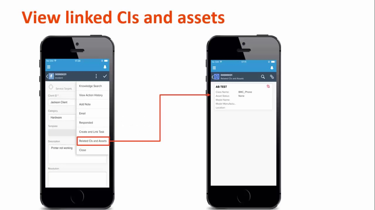 BMC Remedyforce - What's new - Support of CIs and assets in Service Desk  Mobile App