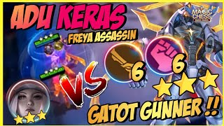 HYPER GATOT GUNNER ! 3 STAR GATOT GUNNER VS 3 STAR FREYA ASSASSIN ! MAGIC CHESS