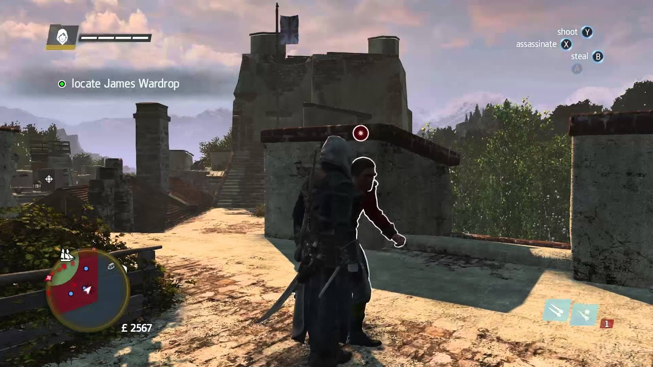 Download Assassin's Creed : Rogue   Locate And Kill James Wardrop (PC 1080p Gameplay)