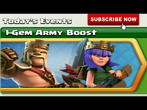 Clash Of Clans | 1-Gem Army Boost | Today's Event | Clash With Bhargav | Hindi