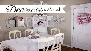 💖DECORATE WITH ME SHABBY CHIC DINING ROOM DECOR 💖