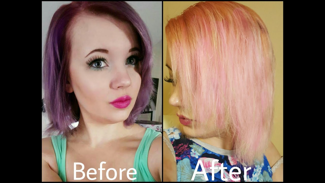 dark purple to light pink hair in less than 2 hours youtube