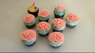 Как украшать капкейки! Розы из масляного крема!(Украшаем капкейки масляным кремом! Коментируй, ставь лайк, и подписывайся чтобы не пропустить новые видео!, 2014-03-13T21:26:26.000Z)
