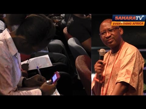 Hilarious Video- Patrick Obahiagbon Gives UNILAG Students Crash Course In English!