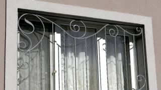 видео Кованые решетки на окна, металлические оконные решетки, цены и эскизы