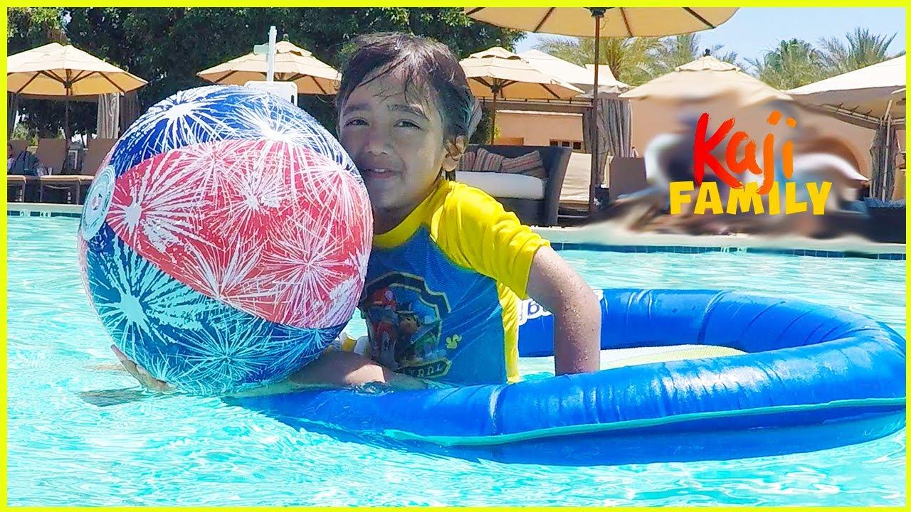 Ryan's Swimming Pool Adventure!!